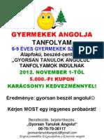 GYERMEKEK ANGOLJA-kupon