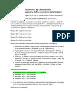 Act. 7 Lección evaluativa de Reconocimiento de la Unidad II - Fundamentos de Administración
