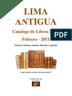 Catalogo n9 Lima Antigua