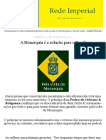 Entrevista de D.Pedro de Orleans e Bragança