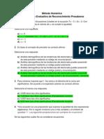 Act 1 Lección Evaluativa de Reconocimiento Presaberes - Metodo Numerico