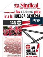 Gaceta Sindical Huelga General 14N