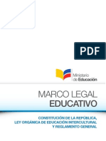 Marco Legal Educativo 2012