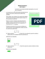 Act 5 Quiz 1 - Metodo Numerico