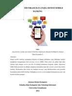 Analisis Komunikasi Data Pada Sistem Mobile Banking II