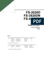 Fs 2020d 3920dn 4020dn Parts List