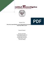 TOEFL Research Report