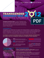 Transgender Awareness Week Poster