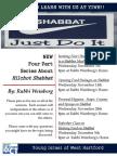 Hilchot Shabbat Series 2012 Flyer