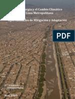 Agua, Energía y el Cambio Climático en Lima Metropolitana