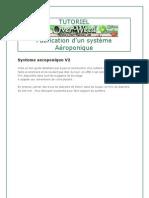 Fabrication d'un systeme Aeroponique