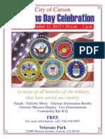 Vets Day Celebration Flier 11-11-2012