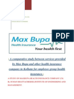 A Comparative Study Between Services Provided by Max Bupa and Other Health Insurance Company in Kolkata for Employee Group Health Insurance
