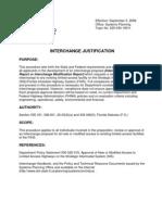 Florida Interchange Justification Policy 09-05-08