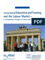 VOCATIONAL EDUCATION AND TRAINING  AND THE LABOUR MARKET A COMPARATIVE ANALYSIS OF CHINA AND GERMANY