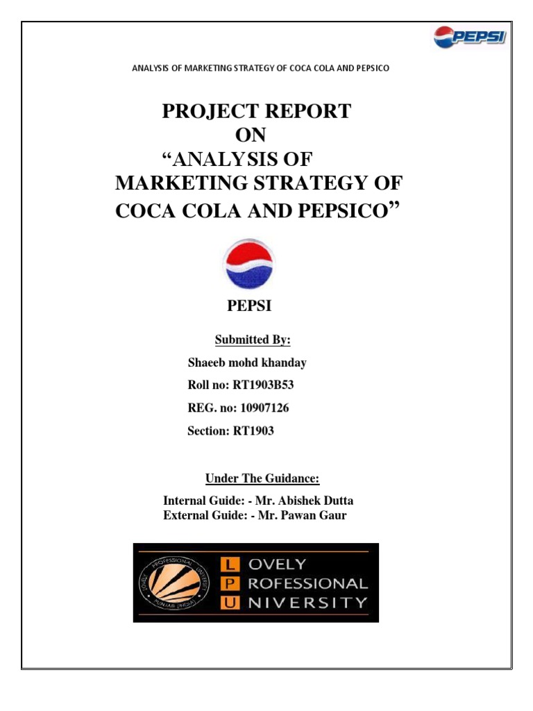 Analysis of Marketing Strategy of Coca Cola and Pepsico | Alcoholic