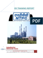 Summer Training in Thermal Power Plant (NTPC)