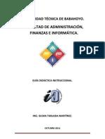 GUÍA INSTRUCCIONAL DE IO. PARTE II-A