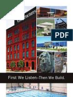 First We Listen Then We Build Brochure