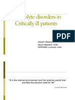 electrolyte disorders in critically ill