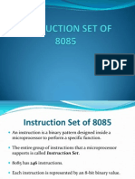 7 Instruction Set of 8085