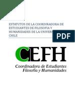 Estatutos de la Coordinadora de Estudiantes de Filosofía y Humanidades de la Universidad de Chile