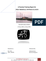 Training Report on Thermal Power Plant (Kota Super Thermal Power Plant)