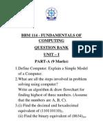 BBM114 Fundamentals of Computing((QB) Sem I - Copy