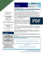 KI Eliminate USA 2 Newsletter 11-8-12