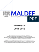 MALDEF Scholarship List 2011-2012