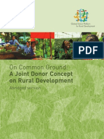 On Common Ground: A Joint Donor Concept on Rural Development – Abridged version