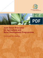 Joint Donor Principles for ARD Programmes – Incentives for Change