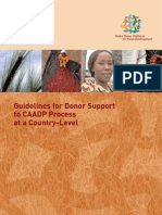 Guidelines for Donor Support to CAADP Process at a Country-Level