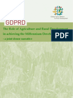 The Role of Agriculture and Rural Development in Achieving the Millennium Development Goals