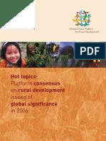 Hot Topics in Rural Development