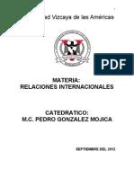Curso Relaciones Internacionales Segunda Parcial