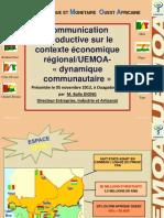 UEMOA - Contexte Regional
