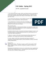 Speech & Hearing Science - CSD 101 OL1 - Course Syllabus
