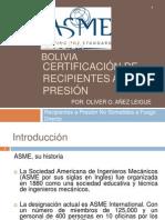 Certificación de recipientes a presión- Oliver O. Añez Leigue
