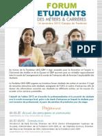 Plaquette Forum étudiants Guyane