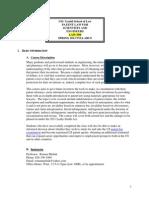 Law 599 Syllabus - Spring 2013