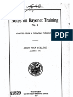 Notes on Bayonet Training No.2 Adapted From A Canadian Publication - August 1917