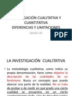 INVESTIGACIÓN CUALITATIVA Y CUANTITATIVA SESION 10