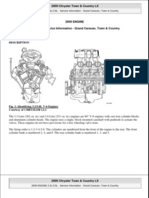 2008-2009 Town and Country 3.8L Engine | Motor Oil | LeakScribd