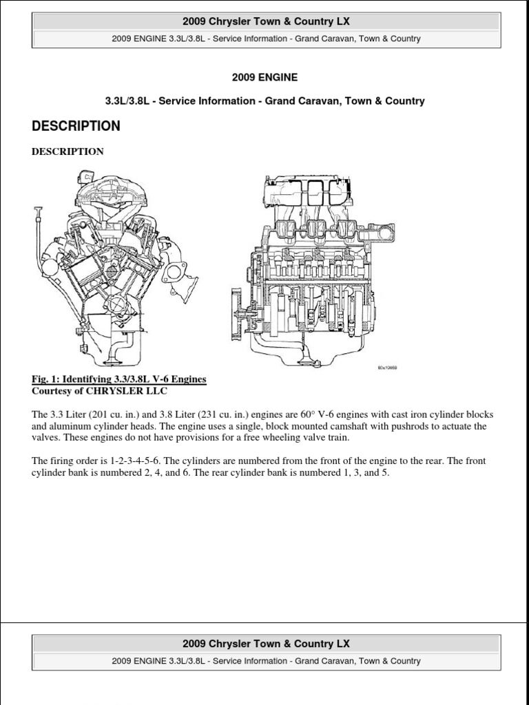 2008-2009 town and country 3.8l engine   motor oil   leak 2010 chrysler town and country engine diagram  scribd