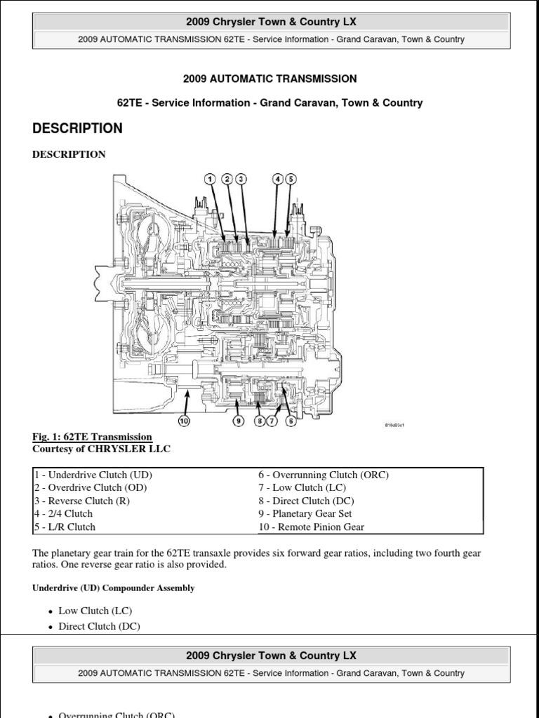 Chrysler 62Te Transmission – fahrzeug