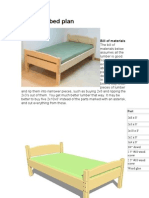 Cama Pequeña (Twin size bed plan)