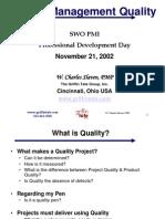 Project Management Quality