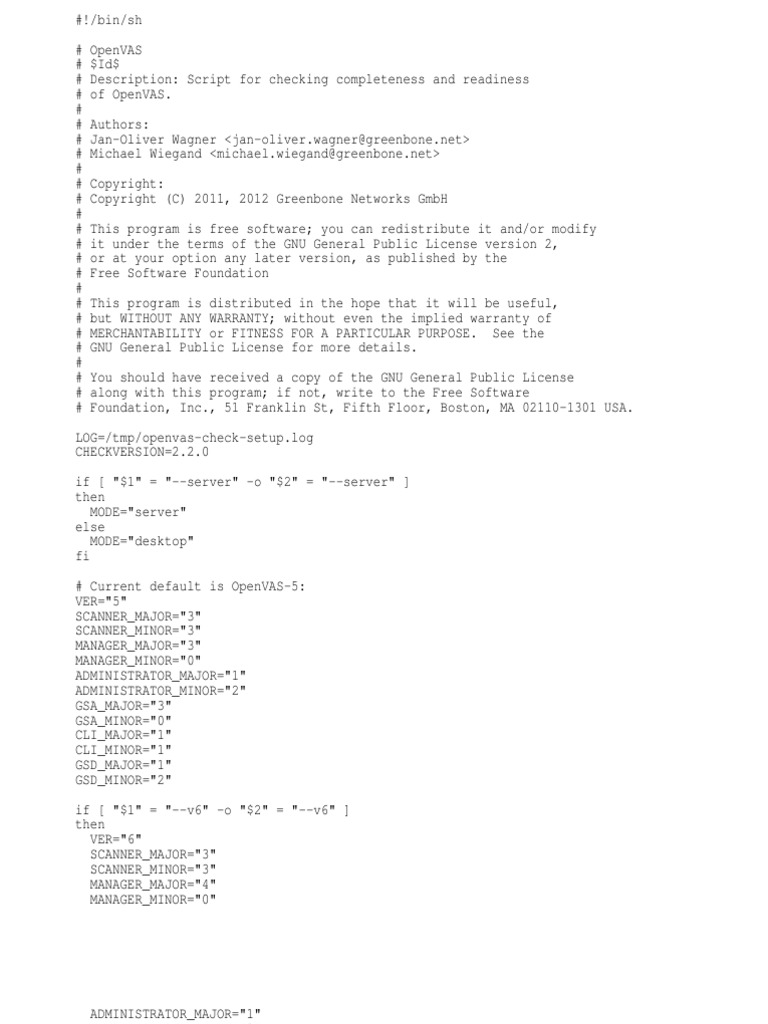 Openvas Check Setup | Gnu | Free Software