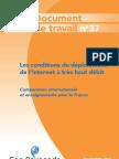 Doc Travail 2012 37 Conditions de Deploiement Du Tres Haut Debit en France